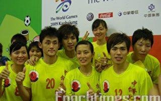 中华合球队的选手们是参赛国家中最年轻的队伍,林士杰(20号球员)说他等了这个荣耀8年了。(摄影:杨小敏/大纪元)