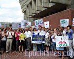 波士頓市長萬寧路親自出席了活動。(攝影:蘇儀/大紀元)