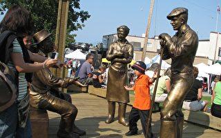 銅像揭幕 展現列市捕魚歷史