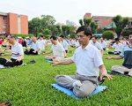 邱先生參加二零零九年八月份台灣北區劍潭學法交流的晨煉。