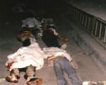 六四遇難者的十二具屍體,停放在醫院的走廊外。(楊理明提供)