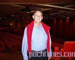 前瑞士外交官弗朗西斯‧格鲁伯在莱蒙大剧院(摄影:何天成/大纪元)