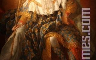 法國國王路易十五身著國王加冕服 (攝影:王泓/大紀元)