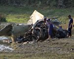 印度空军于10月23日,坠毁一架米格27型战机。(STR/AFP/Getty Images)
