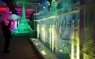组图:美轮美奂的巴黎冰雕展