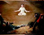 第二届新唐人油画大赛金奖作品《震撼》。(新唐人提供)