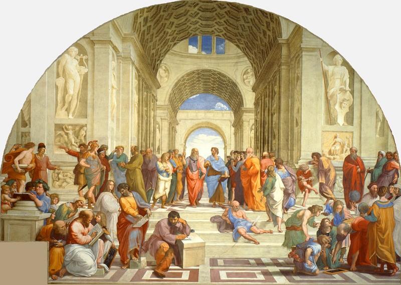 拉斐尔的不朽巨作《雅典学院》是古典风格的典型之一。