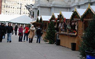 「聖誕村」紮營費城市政大樓外
