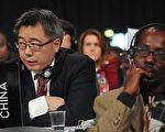 中國國家發改委應對氣候變化司司長蘇偉2009年12月19日出席在哥本哈根貝爾中心舉行的全體會議(Getty Image)