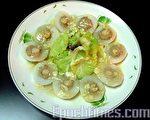 姚氏食堂示范年菜:莲花干贝(图:白亚士/大纪元)