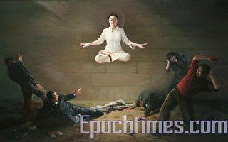 新唐人第二屆「全世界華人人物寫實油畫大賽」金獎作品《震撼》。