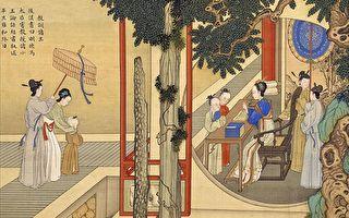 清焦秉貞《歷代賢后故事圖冊》之《教訓諸王》,描繪了明德馬皇后在後宮調教諸位小王子的情景。(公有領域)