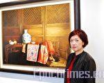 李惠芳于1997年创作的《提盒》。(摄影:朝建勋 /大纪元)