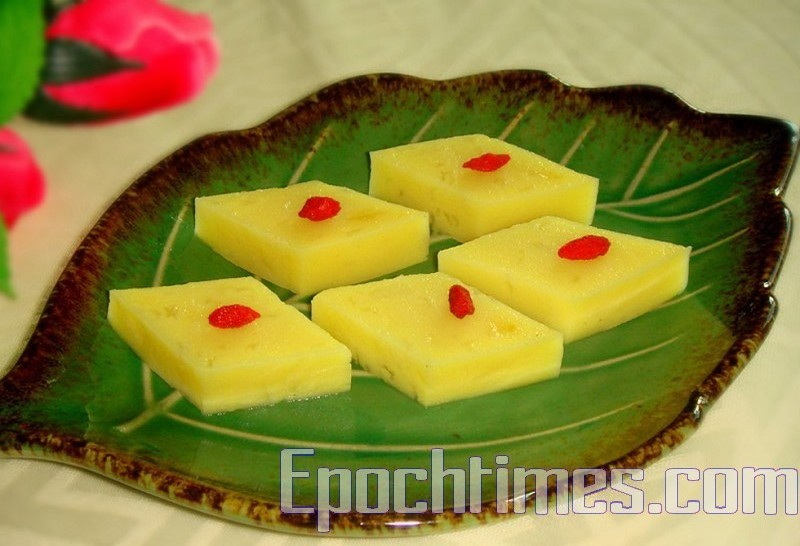 清凉香甜爽口的豌豆黄是消暑圣品 (图:林秀霞/大纪元)