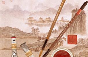"""国画,又称""""中国画"""",我国传统绘画,国画在内容和艺术创作上,反映了中华民族的民族意识和审美情趣。 (大纪元)"""