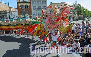 澳洲复活节大游行 百米长金龙出游