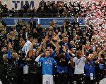 在第62届意大利杯决赛上,国际米兰1-0击败主场作战的罗马,第6次夺得该项赛事冠军。(AFP)