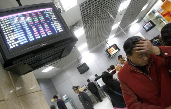 近年來,大陸銀行系統頻繁發生儲戶存款失蹤事件。(LIU JIN/AFP/Getty Images)