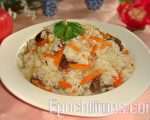 美味养生的羊肉抓饭(图:彩霞/大纪元)
