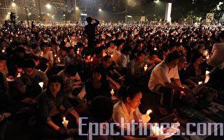 香港六四燭光晚會 15萬港人參加
