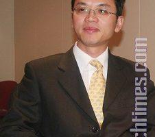 原中国驻澳领馆一等秘书陈用林,证实中共海外中文媒体渗透的真实性。(摄影:李佳/大纪元)