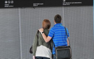 英国伦敦机场(CARL DE SOUZA/AFP/Getty Images)
