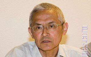 8月7日下午﹐旅居德国的著名华人学者仲维光先生在费利蒙市就民族主义做了专题演讲。(摄影﹕周容/大纪元)