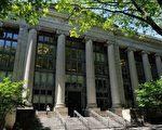 哈佛大学法学院(Harvard College)23岁的华裔大一学生威尔‧张(Will Zhang, 音译)周四(23日)被发现在宿舍中死亡。图为哈佛大学法学院的兰德尔厅。(图片来源:Darren McCollester/Getty Images)