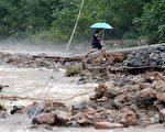大陸遼寧省近日受到暴雨和洪水。    圖片來源:Getty images