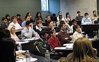 多伦多大学的各族裔学生在听课。(多伦多大学提供)