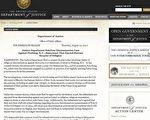 美国司法部星期四(8月12日)在其网站上公布了对纽约法拉盛的十里香菜馆( the Lucky Joy restaurant)歧视法轮功学员,拒绝他们在其餐馆内就餐的指控做出裁决。(网络截图)