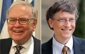 巴菲特請微軟創始人比爾•蓋茲吃午餐時,不僅選擇麥當勞,還使用折扣券。(AFP)