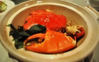秋蟹料理大賞--帝王蟹兩吃。(攝影:徐乃義 / 大紀元)