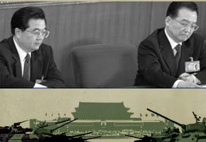 近來一系列領土爭端中,中共軍方頻頻發聲試圖影響政局。(圖片為合成圖片,取材自法新社)