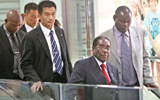 """近日,被中共当成""""老朋友""""的津巴布韦总统穆加贝一度被军方软禁。图为穆加贝2010年8月访华。(AFP)"""