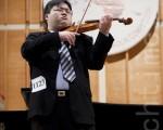 10月28日﹐美国堪萨斯州密歇根大学小提琴专业博士王培儒在赛后分享了自己对古典音乐的理解。(爱德华/大纪元)
