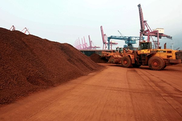 """中共专家鼓吹包括稀土在内的""""三大王牌"""",图为江苏省连云港的稀土矿物。(AFP)"""