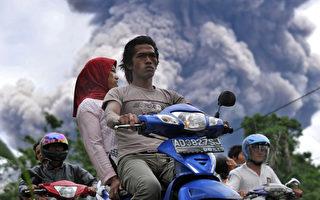 组图:印尼梅拉比火山 再度喷发