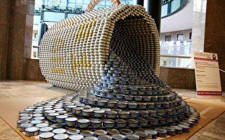 组图:纽约食品罐头塑像设计展  精美创意