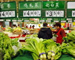 大陆物价一天比一天高涨,每天不同的价码令民众感到物价的压力。(法新社)