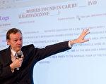 """维基解密公布美国机密文件,内容涵盖当今世界上的""""每一项重大议题""""。图为维基解密(Wiki Leaks)创办人亚桑杰(Julian Assange)。(LEON NEAL/AFP/Getty Images)"""
