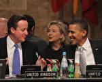 近日英国首相卡梅伦和美国总统奥巴马在北约峰会上。(Sean Gallup/Getty Images)