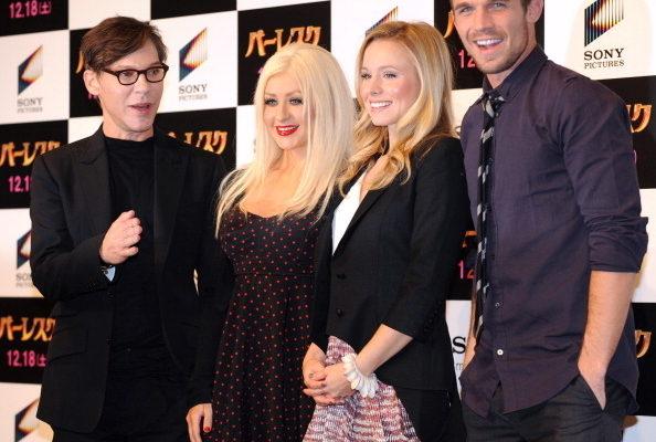 组图:流行歌手克里斯蒂娜赴日宣传电影