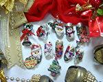 彩绘指甲玩圣诞~惊艳圣诞派对(摄影:徐乃义/大纪元)