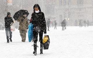 组图:纽约特大暴风雪 市民血拼改计划