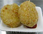 有着洋芋香气的玉米可乐饼(摄影: 刘玉婵 / 大纪元)
