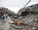 断垣残壁。(AFP)