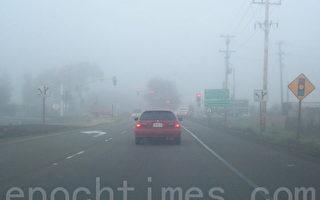 湾区今晨出现大雾