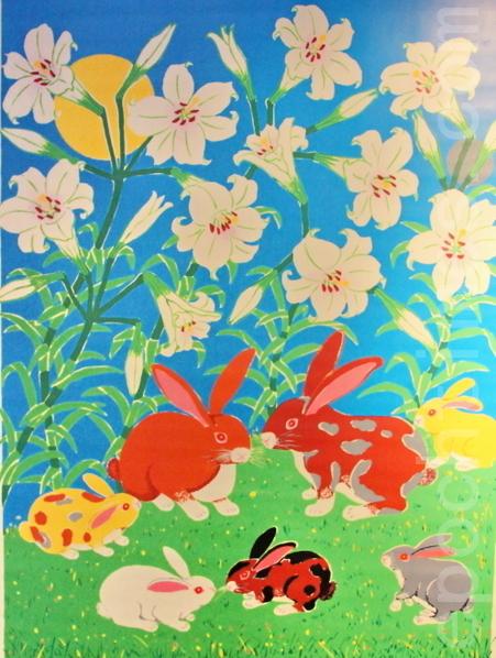 2011兔年的年畫『百年好合,玉兔其昌』,年畫名師黃錦堂的作品。(梁淑菁翻攝/大紀元 )