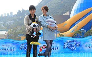 明星古巨基和梁咏琪被委任为海洋保育大使。(摄影:辛玲  / 大纪元)